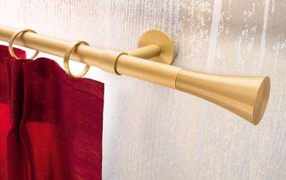 barres de rideaux en laiton
