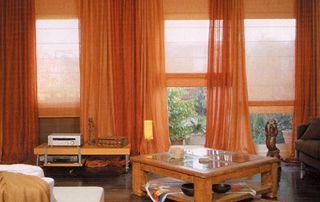 rideaux et stores orange
