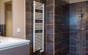 douche italienne avec radiateur