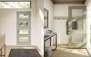 portes mixtes verre et bois