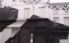 façade graphique noire et blanche