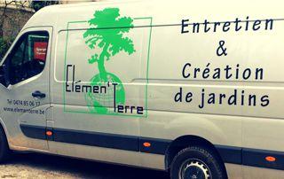 camion Elementerre entretien et création de jardins