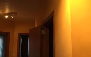 Peinture plafond couloir