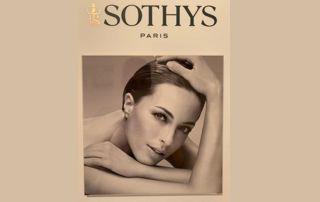 Publicité produits Sothys avec femme