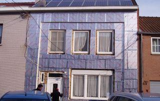 façade et toiture rénovée de maison mitoyenne