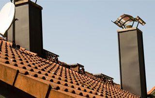 éléments de zinguerie sur le toit