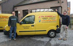 camionnette de l'entreprise Robert