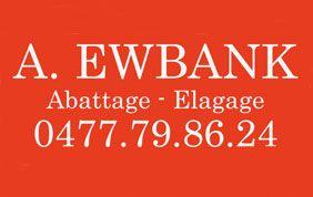 Logo de Ewbank, elagage abattage Brabant wallon
