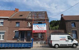 rénovation de toiture à Tournai