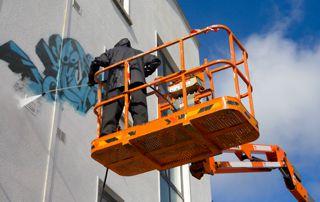enlèvement tags façade