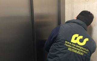 Nettoyage ascenseur entreprise