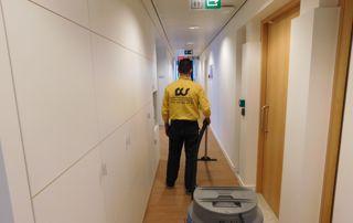 nettoyage tapis couloir