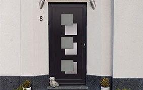 porte d'entrée design noire