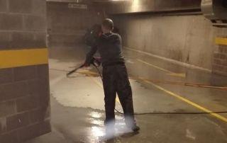 Nettoyage sous sol et parking