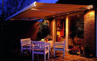 tente solaire avec éclairage