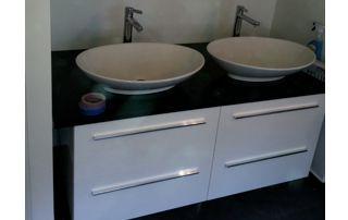 meuble de salle de bain avec vasques
