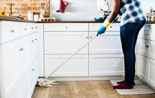 Nettoyage de sol cuisine
