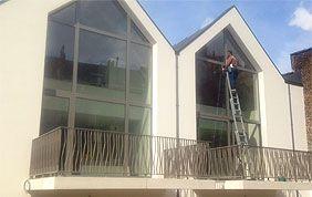 nettoyage de vitres par l'extérieur