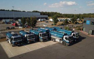Entrepôt des camions de livraison