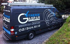 camionnette vitrier Gaspar à Uccle