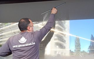 Lavage de vitres commerces
