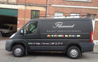 camionnette peintre Magis à Liège