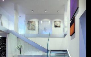 Garde corps escaliers en verre