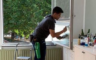 Lavage de fenêtre particulier