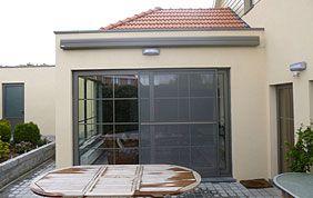 extension de maison devant terrasse