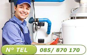 Technicien et boiler