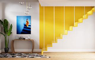 travaux de peinture cage d'escalier