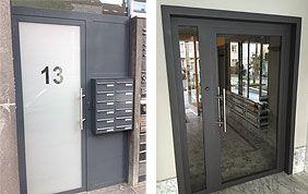 modèles de portes extérieures immeubles