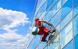 Nettoyage vitres en hauteur