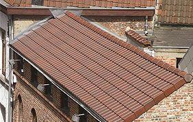 Maison en brique et toiture