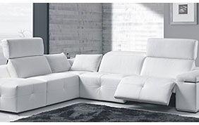 canapé d'angle et fauteuil électrique de relaxation