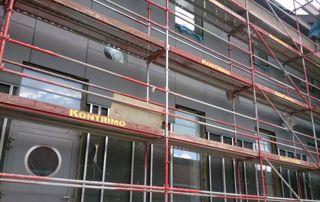 échafaudage pour chantier façade