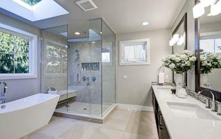 cabine de douche en verre