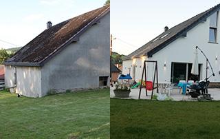 peinture façade avant/après