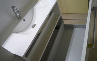 Tiroir de rangement lavabo