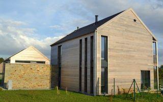 maison à Namur avec bardage en bois