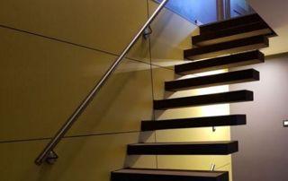 Escalier flottant droit