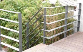 barrière de terrasse avec escalier de jardin