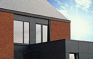 extension de maison avec bardage en ardoise