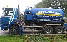 Camion de débouchage Lebon
