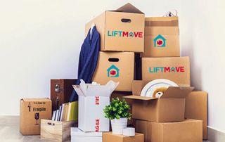 Ensemble de cartons de déménagement
