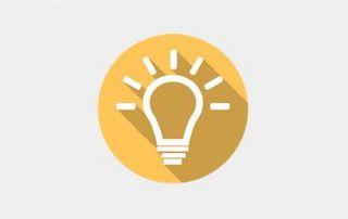 Symbole ampoule lumière
