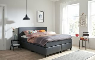 boxspring blanc 2 personnes