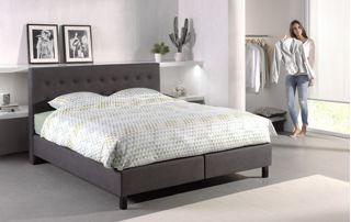 Ensemble boxspring blanc