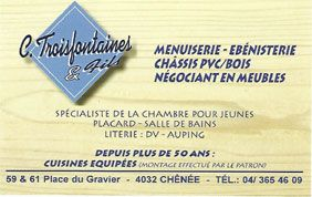 Logo menuiserie et ébénisterie Troisfontaines