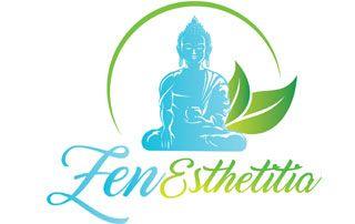 Logo de Zen Esthetitia : institut de massages, soins, etc. à domicile.
